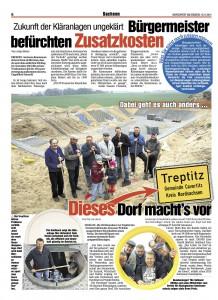 Morgenpost am Sonntag Treptitz 16.11.2014